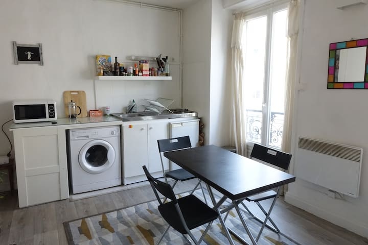 Bright studio near Montmartre