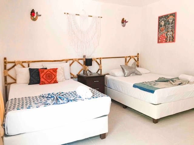 HOLBOX 4 PEOPLE ROOM WITH BALCONY #10