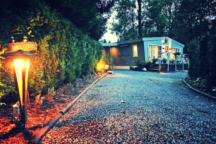 Vakantiehuis met sauna in de bossen