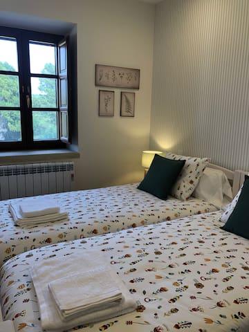 Habitación doble, dos camas de 90