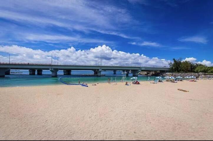波の上beach 海景 临近机场 0清扫费 可中文对应 干净舒适