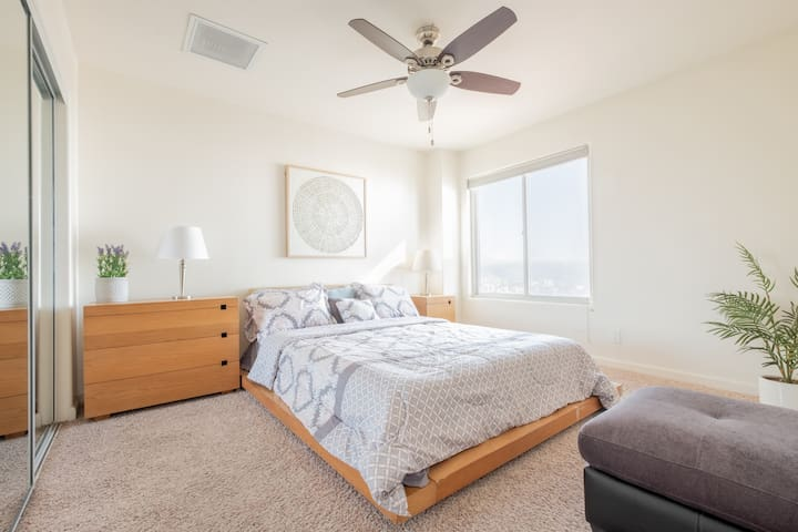 Large and spacious second bedroom.