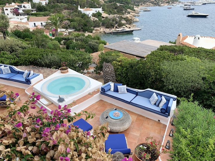 Villa with 4 bedrooms in Porto Rafael , with wonderful sea view, enclosed garden and WiFi - 400 m from the beach