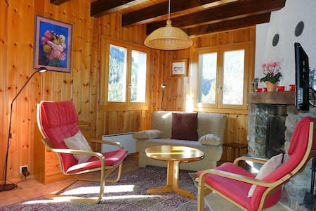 Adorable chalet 4-5 people on the heights of Champex-Lac