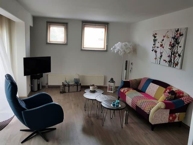 Appartement met twee verdiepingen in Vlissingen.