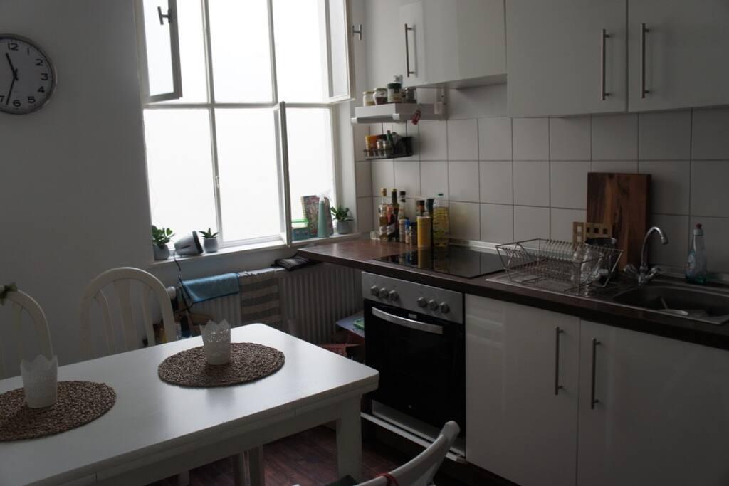 Küche mit Lichthof