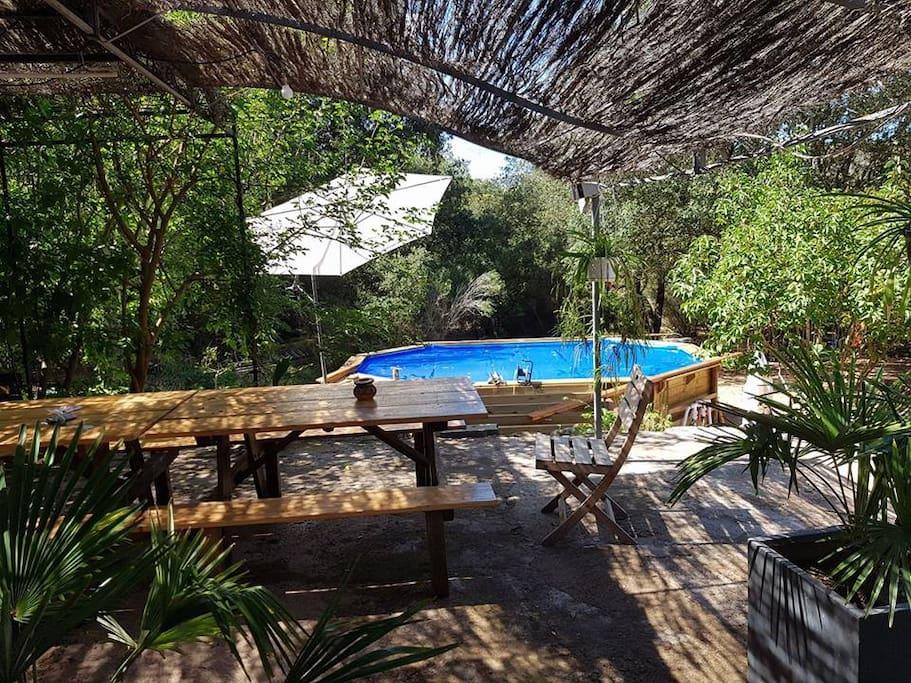 Autour du hamac chambres table d h tes piscine maison for Chambre d hotes piscine