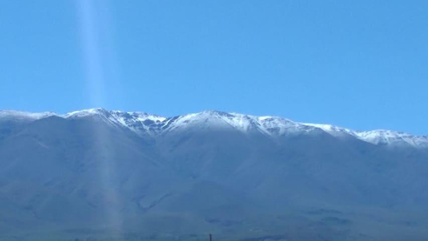 Cumbres Calchaquíes. Vista desde la casa