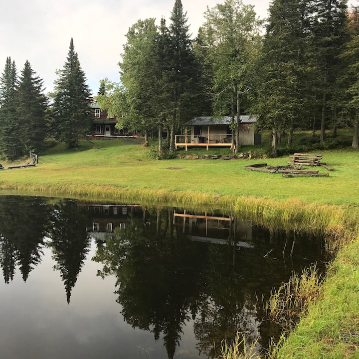 Unique Cabin on a Private Lake w/ Trails & SUNSETS