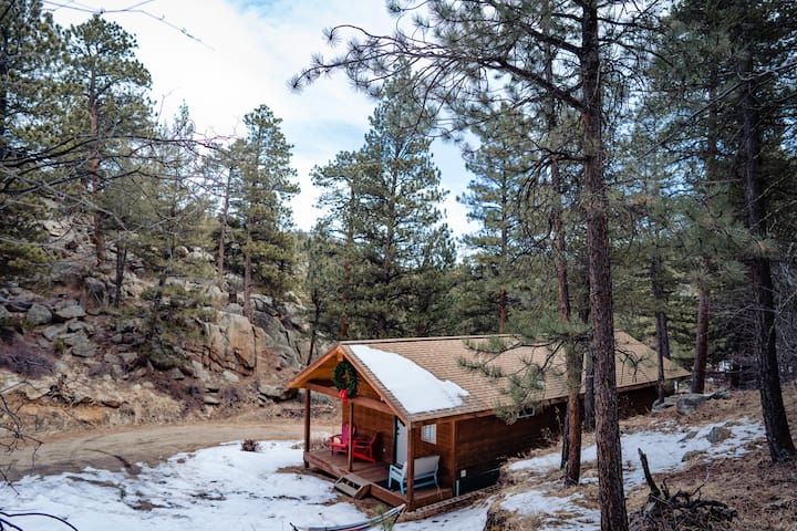 Stylish 1BR Canyon Cabin w/ King Bed on acreage