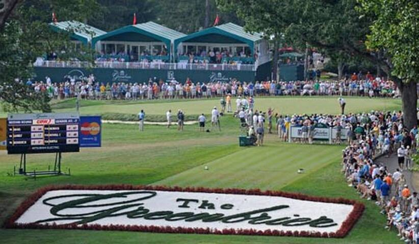 The Greenbrier Classic PGA golf tournament is played across the street