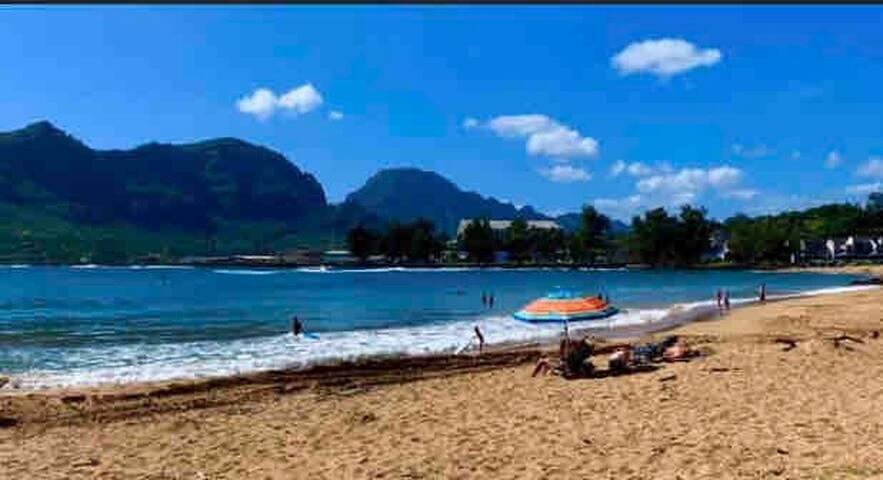 Walk across the road to Kalapaki Beach!