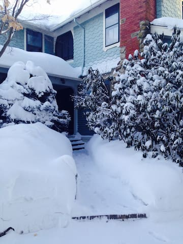 Entry into apartment-winter