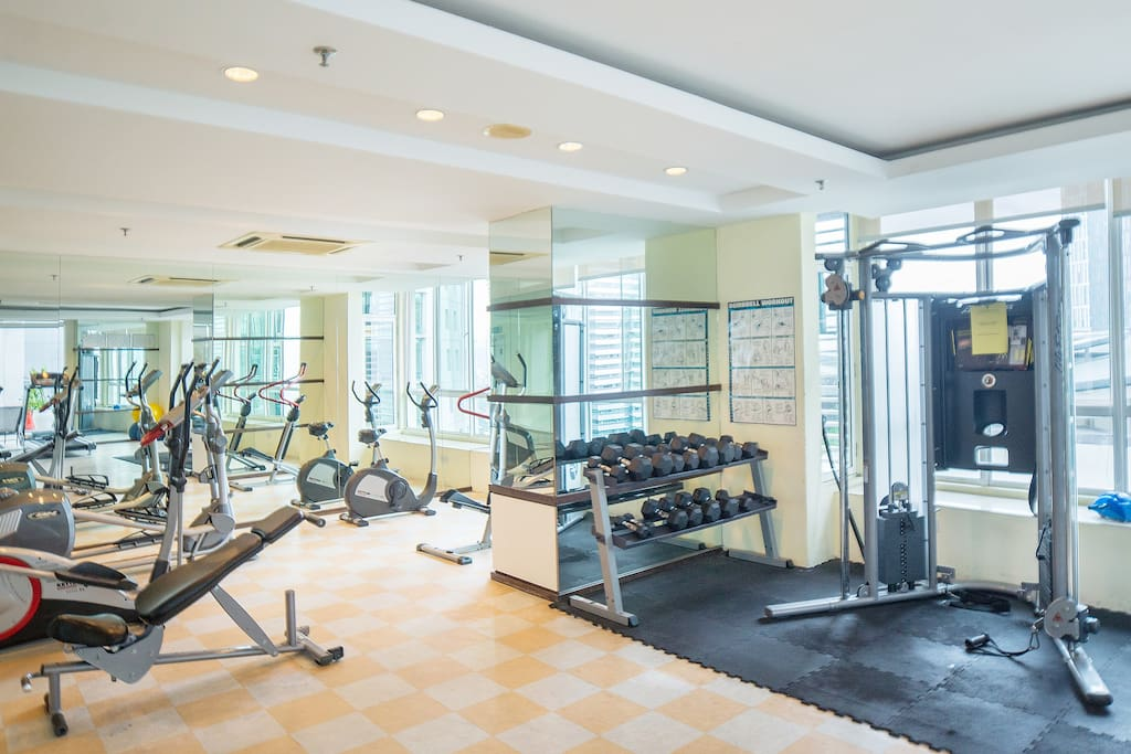Apartment Gym room facility.