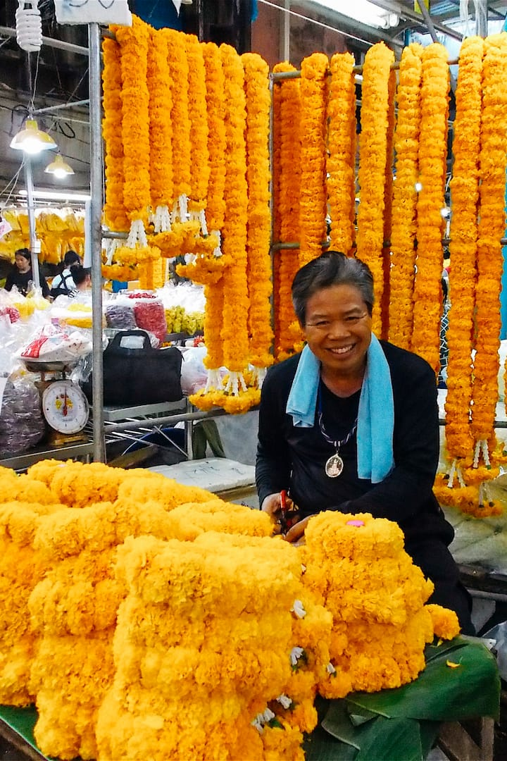 Enjoy the colourful flower market