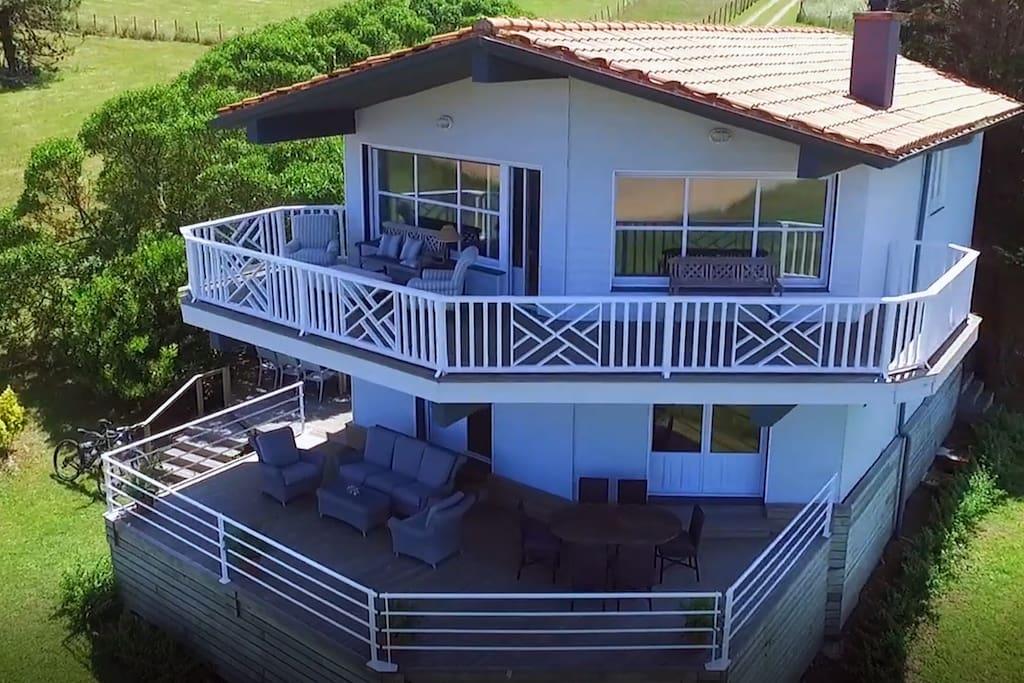 Casa vista desde arriba