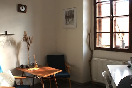 Sunny and vibrant room in historic heart
