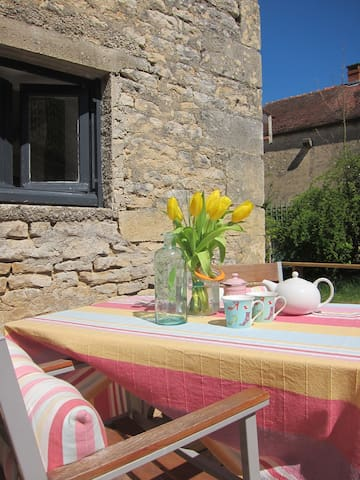 Sunny side terrace