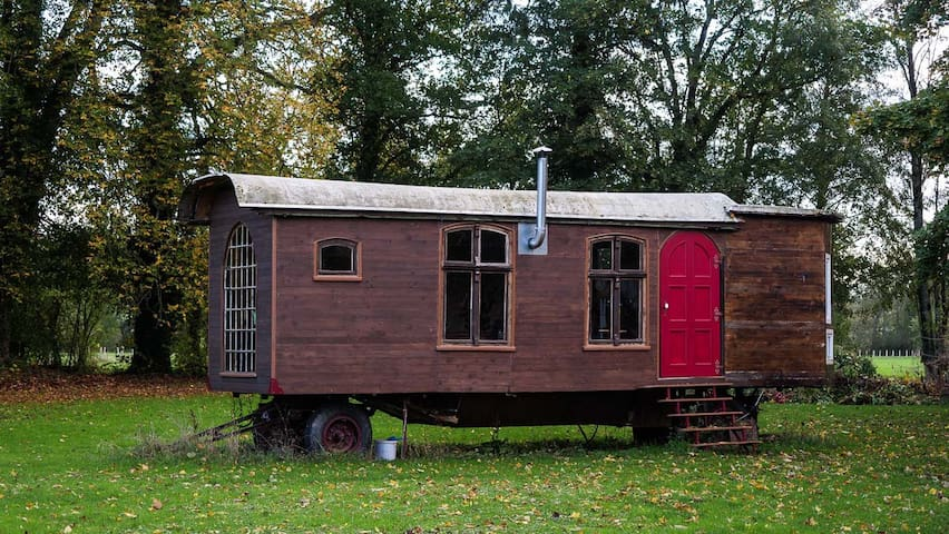 Wooden Site Trailer in a community called ANWESEND