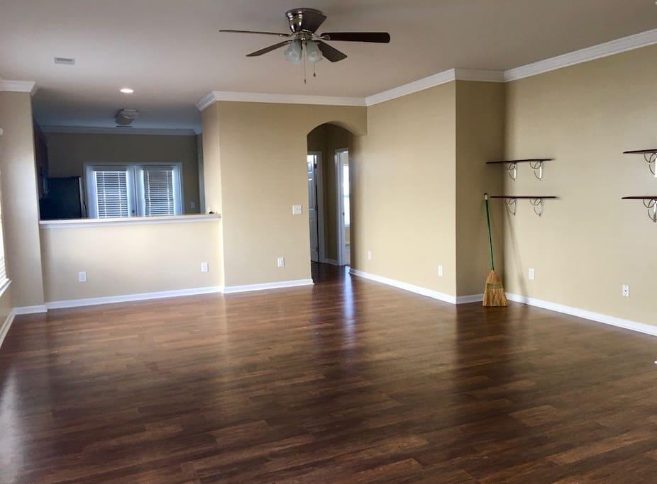 Sleek, brand new floors