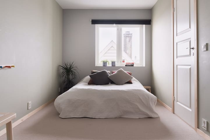 Bedroom 3. (The beds can also be pulled apart and make two single beds) All the bedrooms have merino wool carpet floors that gives you that luxurious hotel room feeling