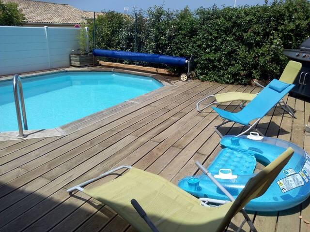 villa avec piscine sud de france-portiragnes - Portiragnes - House