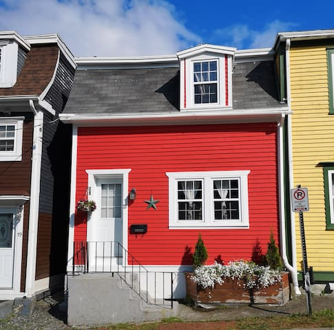 St. John's Modern, Charming Jelly Bean Row House