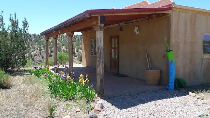 Las Palomas Guesthouse, East porch.
