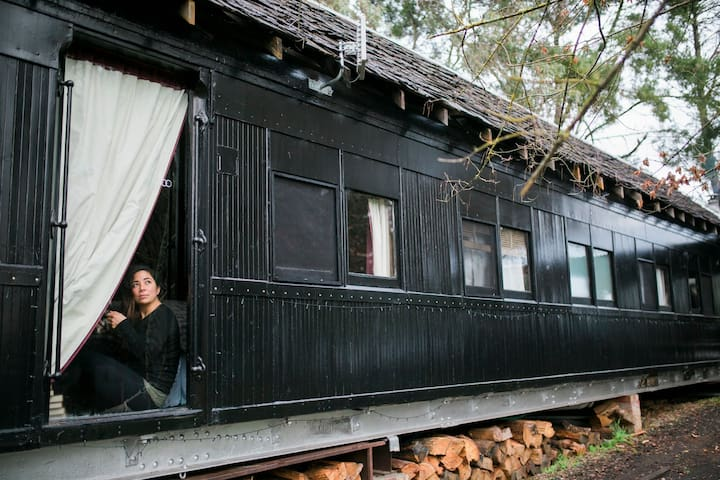 Steam: Converted Train Carriage in the Otways - Forrest - Trein