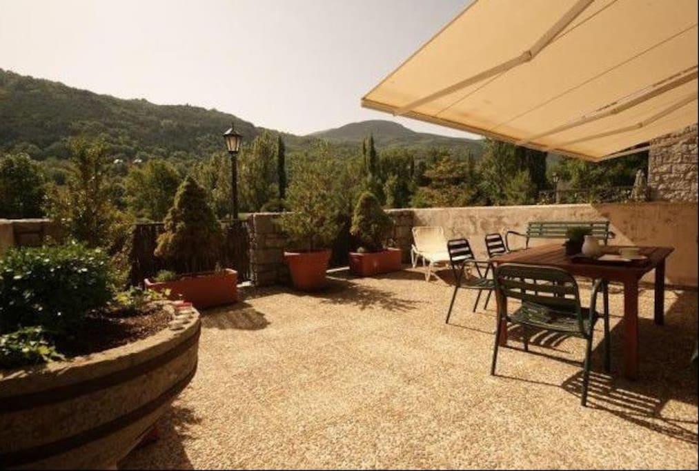 Terraza,al pico de cerler