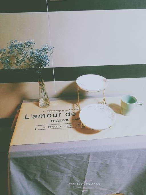 蓝色的满天星,折叠饭桌