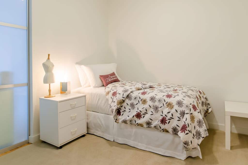 Comfortable single bed in your own private room
