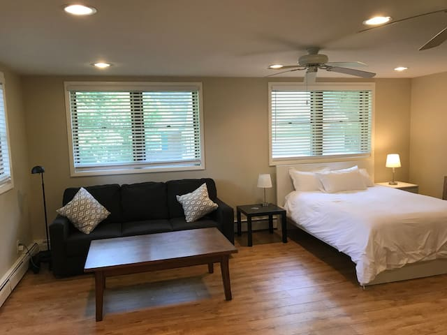 The Office - Homey Suite 5 min to WMU / Downtown!