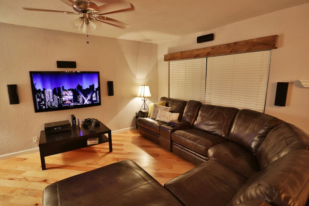 Big Screen with 7.1 Surround