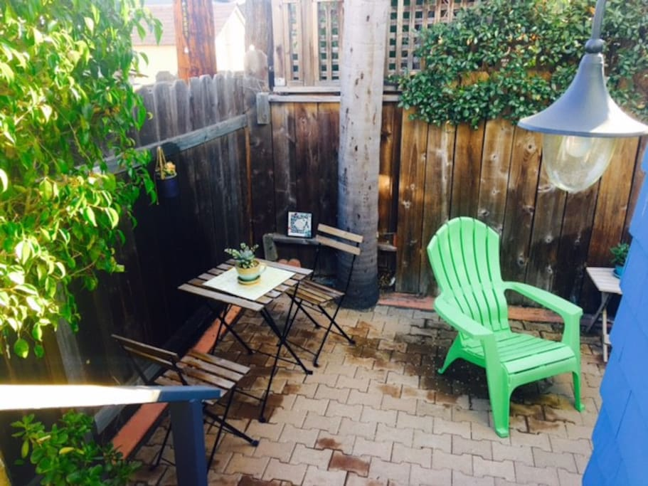 Private sitting patio