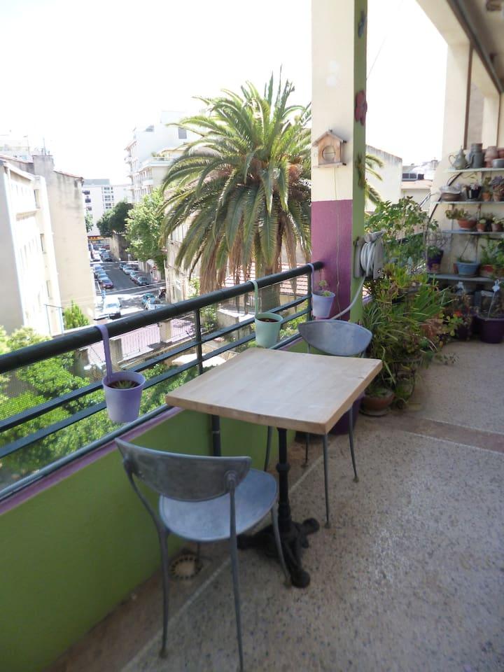 Balcon plein Sud