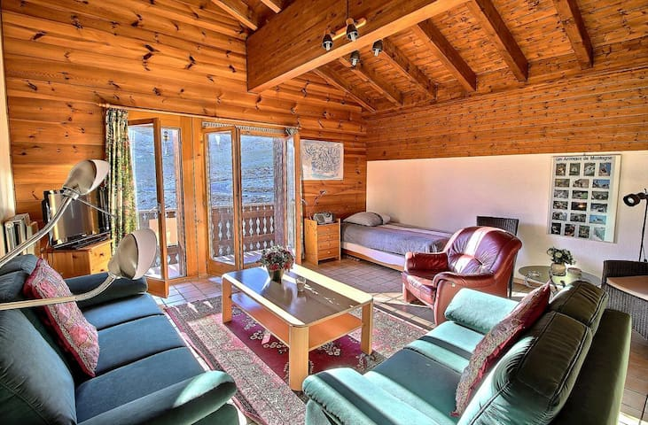 SKI-IN / SKI-OUT Les Crosets 2 bedrooms, wifi and indoor garage, located directly on the slopes (6-W)