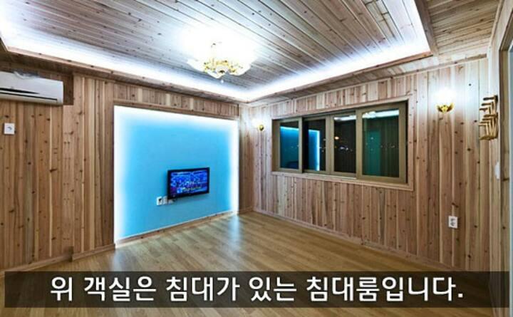편백나무로 지어져 숲과 같은 상쾌한 소형(침대103) 객실