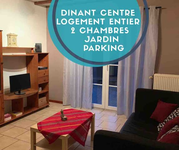 DINANT Superb flat 2 bedrooms, garden (pets ok)