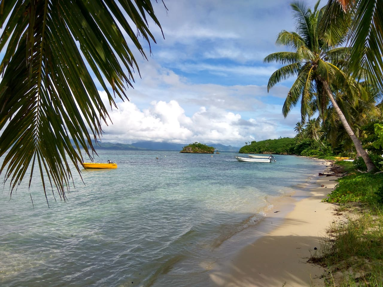 Naigani village beach where you will arrive and be welcomed