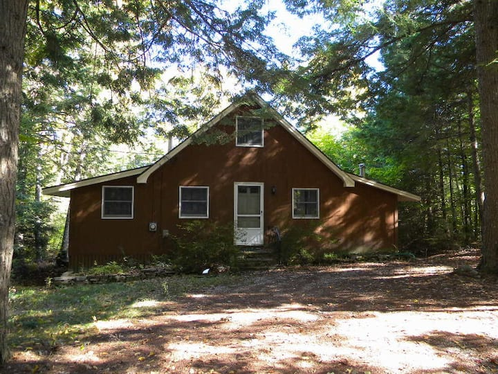 (#34) - Tranquil and private Biscay Pond cottage with sauna and wood stove!