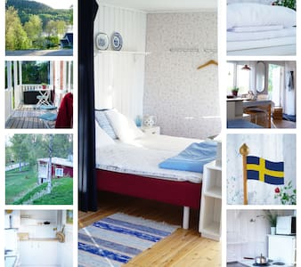 Swedish cottage between lake and forrest-Bergabo