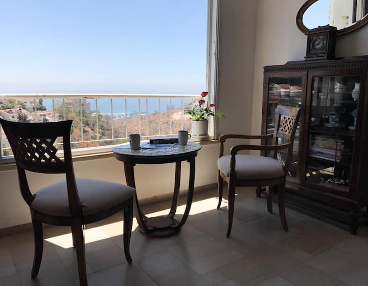 Haifa carmel Luxury apt , view,  Ahuza,-university