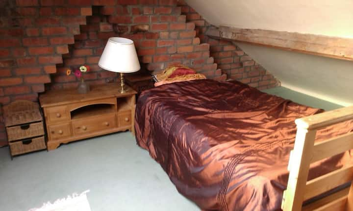 Warm, Light Attic Room