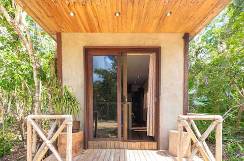 ITZEN CABINS in the middle of the MAYAN JUNGLE
