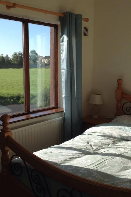 Lovely bright east facing room looking over green space.