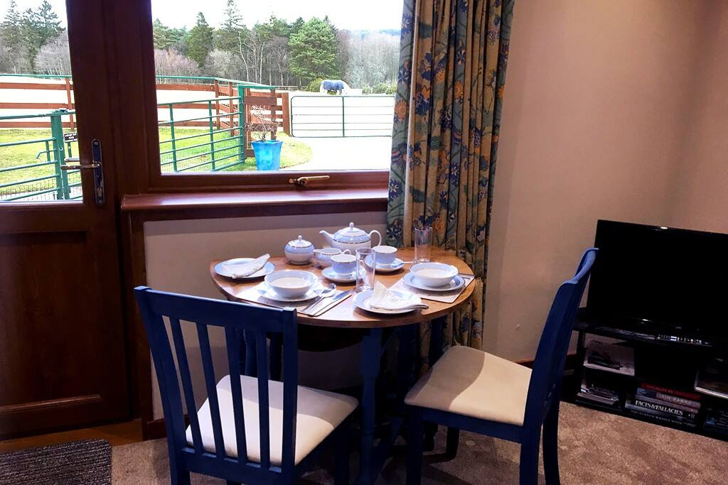 Dining Area with view over fields