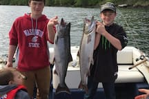 Excellent salmon fishing in the area.