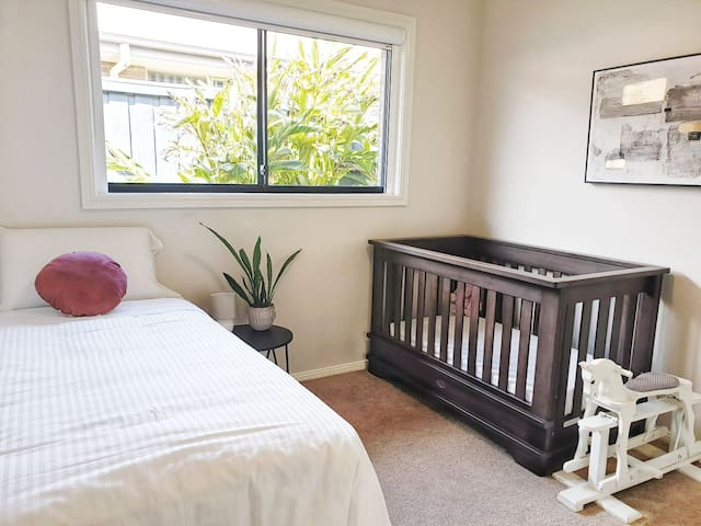 2nd Bedroom includes a king single with pull out trundle and cot