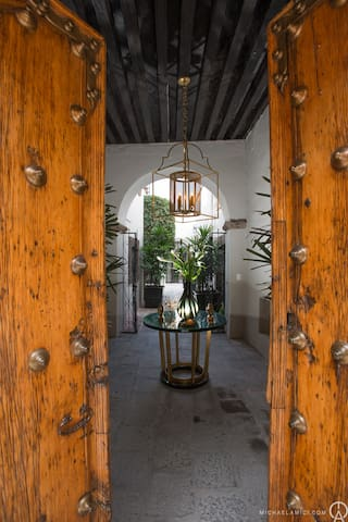 Your Beautiful Journey Begins Behind the 300 Year Old San Miguel Doors!